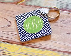 Monogrammed Puzzle Key Ring by Lipstick Shades - The Monogram Merchant