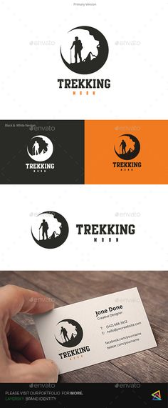 Trekking Moon Logo — EPS Template • Only available here ➝…