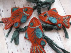 Embroidered Fish.  via Etsy.