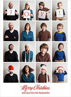 30 Holiday Photo Card Designs Using Family Portraits with Quotes | Wedding Photography Design