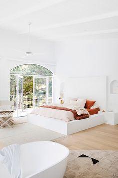 Home Interior Bedroom .Home Interior Bedroom Master Suite, Master Bedroom, Bedroom Decor, 60s Bedroom, Linen Bedroom, White Bedroom, Bedroom Colors, Bedroom Designs, Girls Bedroom
