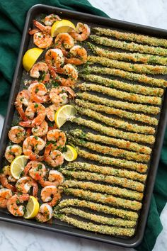 Parmesan Crusted Asparagus, Pan Asparagus, Shrimp And Asparagus, Asparagus Recipe, Shrimp Pasta, Baked Shrimp Recipes, Seafood Recipes, Cooking Recipes, Healthy Recipes