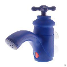 RÁDIO TORNEIRA PARA BANHEIRO Rádio a prova d´água para colocar no banheiro. Formato de torneirinha na cor azul.