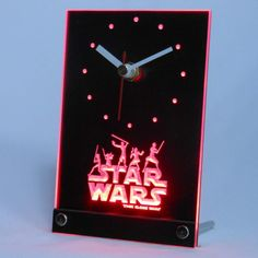 Star Wars The Clone Wars Jedi Desk LED Clock