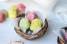 Superfood Easter Eggs for Kids  Let's be real, Easter can be a challenging time for parents surrounded by  chocolate and sweets. Many of them contain unhealthy food dyes, additives  and LOADS of sugar.  These little guys are bright, cheerful and easily made with your kids using  natural supe