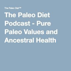 Stick Master - Bob Culbertson    I love that Dr. Cordain loves Chapman Stick music!!               The Paleo Diet Podcast - Pure Paleo Values and Ancestral Health