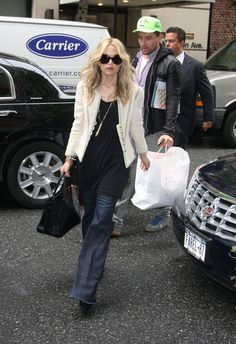 Rachel Zoe arrive at the Carlyle Hotel