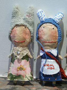 Julie Arkell paper mache figures