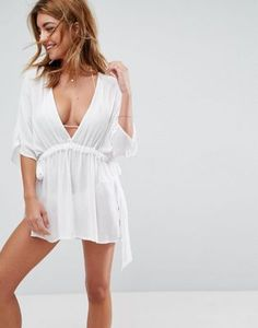 682320a25cd7 ASOS Channel Waist Beach Cover Up Ferie Outfits