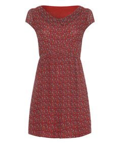 Another great find on #zulily! Red Abstract Collared Dress #zulilyfinds
