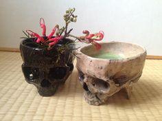 Kazumichi Maruoka's skull tea bowls.