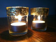 Glitter votive candle holders how to