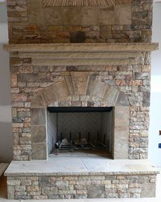 stacked stone fireplace real stack stone