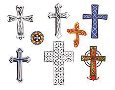 Modèle Tatouage Croix Tm9q089
