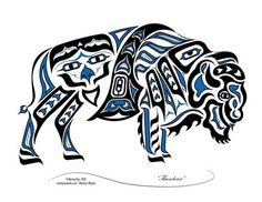 northwest tribal art buffalo - Google Search