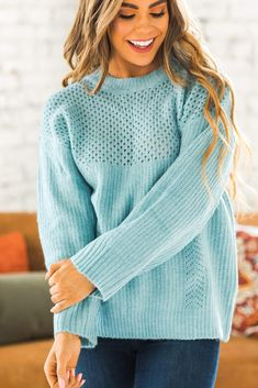 Classy yet comfy, our Ezra Woven Sweater is one of our favorite pieces this season! From the woven detail on top to the knitted texture in the fabric to the semi-loose fit, you are sure to feel cozy! It comes it a variety of classic color options and is so easy to wear! Casual Outfit Ideas, Cute Casual Outfits