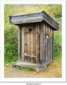 Free art print of Outhouse. Image of an outhouse or outdoor toilet in the country. Scanned from film negative - some film grain visible. Homestead Survival, Camping Survival, Survival Prepping, Survival Life, Survival Skills, Outhouse Bathroom, Outdoor Toilet, Large Sheds, Free Art Prints