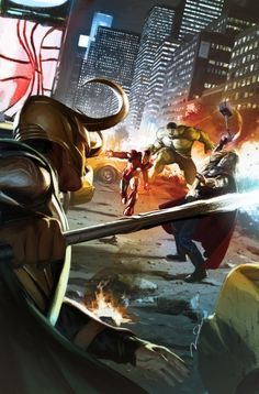 Loki versus The Avengers.