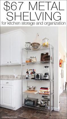 Kitchen shelving and storage for under $70!