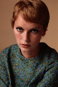 mia farrow . an advert for cutting your own hair. she went from long to short, before she'd even heard of vidal sassoon, with the help of nail scissors