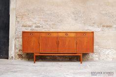 GENTLEMEN DESIGNERS, Mobilier vintage, made in France ENFILADE SCANDINAVE EN TECK, SIDEBOARD, 183 CM, 4 PORTES, 4 TIROIRS