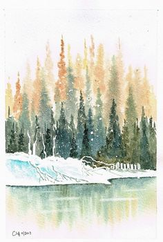 We've had lots of snow recently so it seems appropriate to share this lovely snowy scene by ArtTutor member CliffR ArtTutor Gallery: Get Inspired By The Artwork of Others