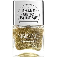 Nails Inc Snow Globe Glitter Polish ($21) ❤ liked on Polyvore featuring beauty products, nail care, nail polish, glitter, glossy nail polish, shiny nail polish and lipsy