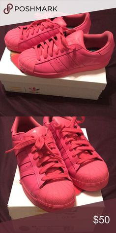 2f4f60f3d Pharell Williams Adidas Superstar Supercolor Pink Size 7 1 2 men s