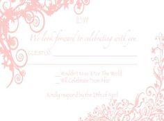 diy photoshop wedding rsvp card | For A Lucky Girl