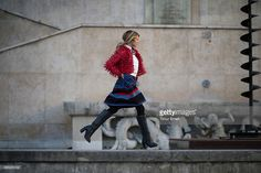 Martha Graeff in the streets of Paris during the Paris Fashion week... News Photo   Getty Images