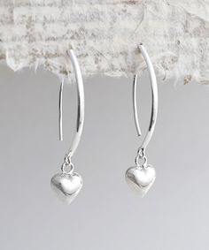 Look at this Martha Jackson Sterling Silver Bow Heart Drop Earrings on #zulily today!