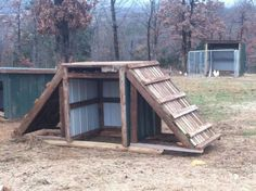 my goat shed..........*What a great idea!