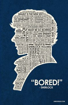 BBC Sherlock Quote Poster via Etsy.