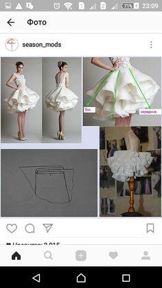 Tutoriales #dressesmakingprocess Dress Sewing Patterns, Clothing Patterns, Skirt Patterns, Skirt Sewing, Coat Patterns, Blouse Patterns, Fashion Sewing, Diy Fashion, Modest Fashion