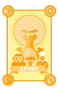 Classic Epcot Center art by Love, Ashley Designs - LOVE LOVE LOVE!