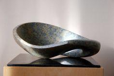 Jan van der Laan - Serpentijn - Liggende lus 2010 hier zit beweging in en ene gat wat ik ook heb gerealiseerd met mijn steen het ligt weerkaatst gier mooi