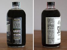 Ready to drink Coffee // Cold brew / Slingshot Coffee Co / Custom design from Dapper Paper