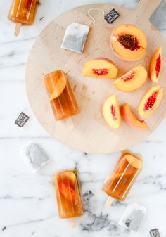 Sweet Peach Iced Tea Popsicles