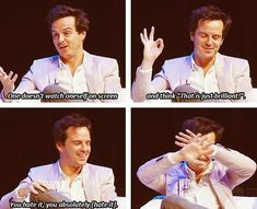 Andrew Scott is adorable. I can't not read that in his Moriarty voice!