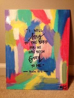 Psalm 136 Canvas by LifeWithAboundingJoy on Etsy Scripture Art, Scripture Painting, Painting Quotes, Fruit Of The Spirit, Diy Canvas, Canvas Ideas, Canvas Crafts, Crafty Craft, Crafting