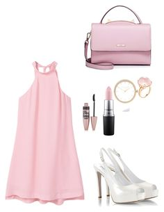 """Pink girl"" by cilphandethuong on Polyvore featuring MANGO, MAC Cosmetics, WithChic, Fratelli Karida, Goshwara, River Island and Maybelline"