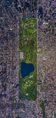 Aerial view of Central Park…