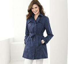 Too cute!! POLKA DOT TRENCH - Navy at Johnston & Murphy