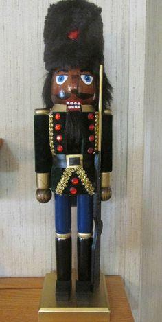 African American Christmas Nutcracker Ethnic Black Royal King Soldier Gun