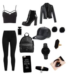 """""""Punk day"""" by valeriefreij on Polyvore featuring Charlotte Russe, Levi's, Jeffrey Campbell, Coach, CLUSE, Jaeger, Narciso Rodriguez and plus size clothing"""