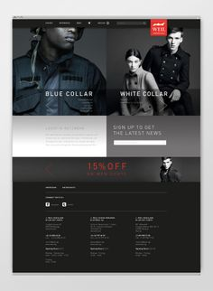 ecommerce — Corporate Wear Website - Preview by Studio Ferdinand , via Behance