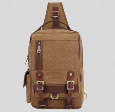 28.39$  Know more  - New Men's Canvas Travel Motorcycle High Capacity Messenger Shoulder Sling Day Back Pack Chest Ipad Bag