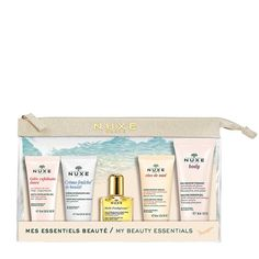 NUXE My Beauty Essentials Travel Kit 2019 includes 5 travel-size NUXE treats to care for your skin from top to toe. Includes mini cleanser, moisturiser, shower gel & more. Beauty Essentials, Travel Essentials, Cream Nails, Beauty Treats, Top To Toe, Travel Kits, Moisturiser, Hand Cream, Facial Cleanser