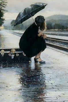 Bir  kadın  vardı.. aslında o hep vardı.. Yağmur  taneleri koşturuyor.. hissediyorum  o gitgide  her şey  olmakta..