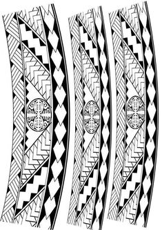 Set of maori ornaments bracelets tattoo Band Tattoo Designs, Armband Tattoo Design, Polynesian Tattoo Designs, Maori Tattoo Designs, Tattoo Design Drawings, Mandala Tattoo Design, Thai Tattoo, Maori Tattoos, Hawaiian Tribal Tattoos